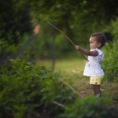 Olivia in garden